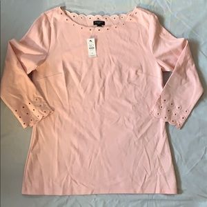 2/$15 NWT Talbots soft pink top